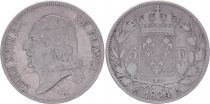France 5 Francs Louis XVIII - Buste nu - 1824 A Paris - Argent - TB