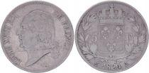 France 5 Francs Louis XVIII - Buste nu - 1824 A Paris - Argent - TB