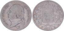 France 5 Francs Louis XVIII - Buste nu - 1824 W Lille - PTB
