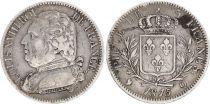 France 5 Francs Louis XVIII Buste habillé - 1814 Q Perpignan - Argent - TTB