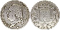 France 5 Francs Louis XVIII Buste nu - 1815 à 1824 - Argent