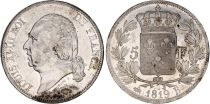 France 5 Francs Louis XVIII Buste nu - 1819 B