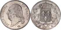 France 5 Francs Louis XVIII Buste nu - 1822 A Paris