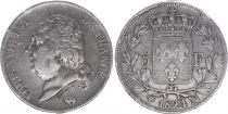France 5 Francs Louis XVIII Buste nu - 1824 MA Marseille - Argent