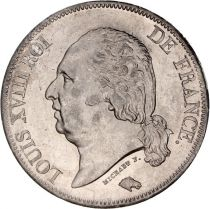 France 5 Francs Louis XVIII Roi de France - 1822 A Paris