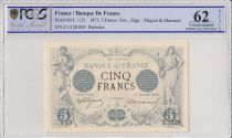 France 5 Francs Man and woman - 1873 - ¨PCGS 62