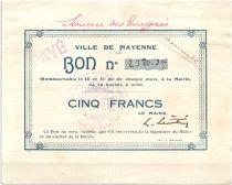 France 5 Francs Mayenne Ville