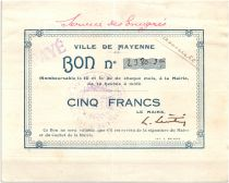 France 5 Francs Mayenne Ville