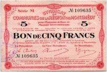 France 5 Francs Montmédy S. des communes
