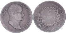 France 5 Francs Napoléon, Premier Consul - An 12 M Toulouse - Argent - PTB