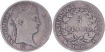 France 5 Francs Napoléon Empereur  - 1808 A Paris - TB