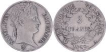 France 5 Francs Napoléon Empereur  - 1808 A Paris - TTB