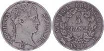 France 5 Francs Napoléon Empereur  - 1811 B Rouen - TB+