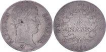 France 5 Francs Napoléon Empereur  - 1811 L Bayonne - TB