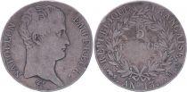 France 5 Francs Napoléon Empereur  - An 13 A Toulouse - TB