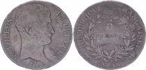 France 5 Francs Napoléon Empereur  - An 13 Toulouse - Argent - TB