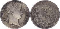 France 5 Francs Napoléon I - 1808 A