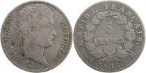France 5 Francs Napoléon I - 1811 M Toulouse