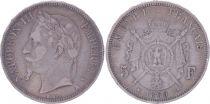 France 5 Francs Napoléon III - Tête laurée - 1869 A Paris - TB+