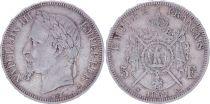 France 5 Francs Napoléon III - Tête laurée 1867 A Paris - TB+