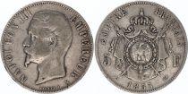 France 5 Francs Napoléon III - Tête nue - 1855 ou 1856 selon dispo