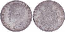 France 5 Francs Napoléon III - Tête nue - 1856 A Paris - Argent - TB - 2e ex.