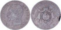 France 5 Francs Napoléon III - Tête nue - 1856 A Paris - Argent - TB - 3e ex.