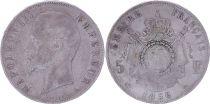 France 5 Francs Napoléon III - Tête nue - 1856 A Paris - Argent - TB - 4e ex.