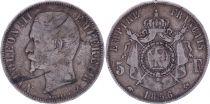 France 5 Francs Napoléon III - Tête nue - 1856 A Paris - Argent - TB - 5e ex.