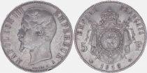 France 5 Francs Napoléon III - Tête nue - 1856 A Paris - TB+