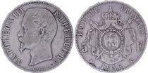 France 5 Francs Napoléon III - Tête nue - 1856 D - Argent - TB