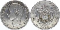 France 5 Francs Napoléon III - Tête nue 1855 A Paris - Argent - TB+