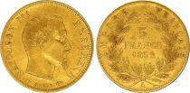 France 5 Francs Napoléon III - Tête nue 1859 A