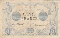 France 5 Francs Noir - 12-05-1873 Série U.2539 - TB