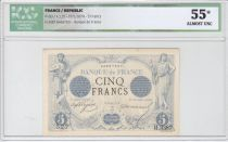 France 5 Francs Noir - Janv 1874