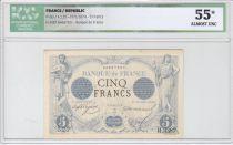 France 5 Francs Noir - Janv 1874