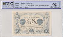 France 5 Francs Noir - Nov 1873 - PCGS 62