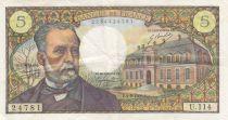 France 5 Francs Pasteur - 04-09-1969 Série U.114 - TTB +