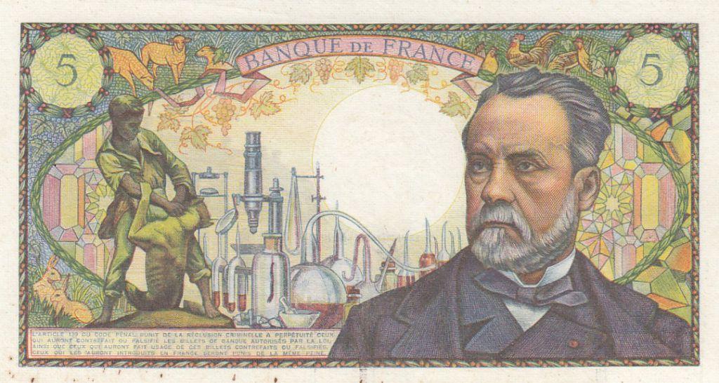 France 5 Francs Pasteur - 04-11-1966 Série L.37 - TTB