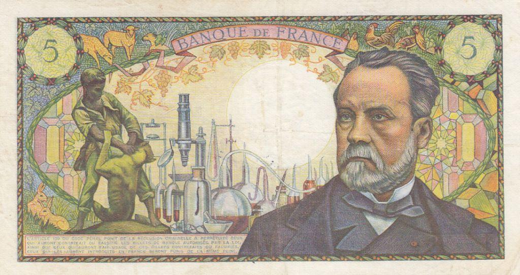 France 5 Francs Pasteur - 07-07-1966 Série Q.24 - TTB