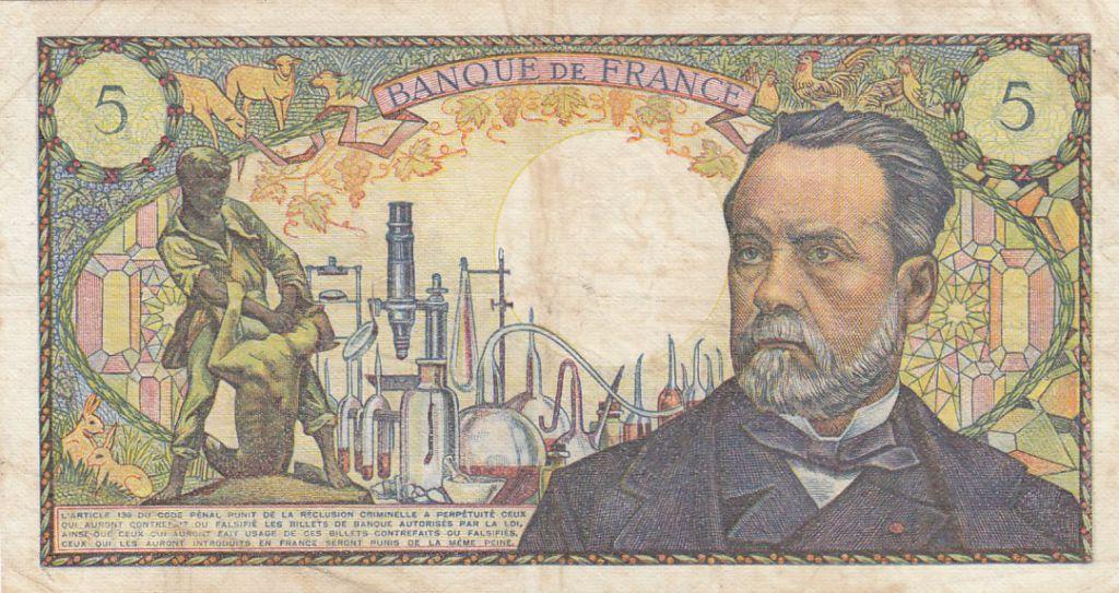 France 5 Francs Pasteur - 08-01-1970 Série H.117 - TTB
