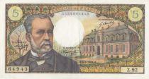 France 5 Francs Pasteur - Z.92 - 1969