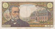 France 5 Francs Pasteur 05-05-1967 - Serial  E.52 - F to VF