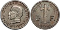 France 5 Francs Pétain - 1941 - SUP