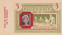 France 5 Francs Petain - Women with childs - 1941 - WWII