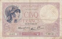 France 5 Francs Purple - 27-07-1939 -Série T.59141
