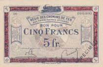 France 5 Francs Régie des chemins de Fer - 1923 - Spécimen Série OO