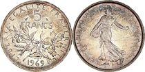 France 5 Francs Seed sower - 1969