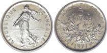 France 5 Francs Semeuse - 1971 - FDC - Issu de coffret