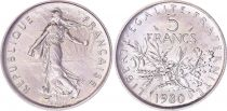 France 5 Francs Semeuse - 1980 - FDC - Issu de coffret